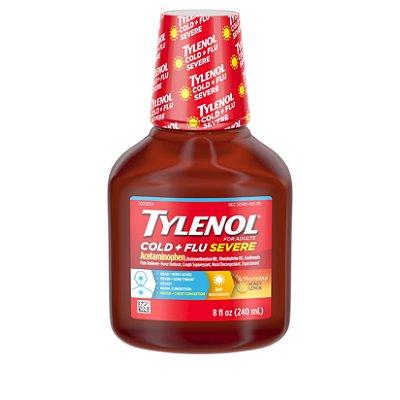 Tylenol Cold + Flu Severe Flu Medicine, Honey Lemon Flavor 240ML