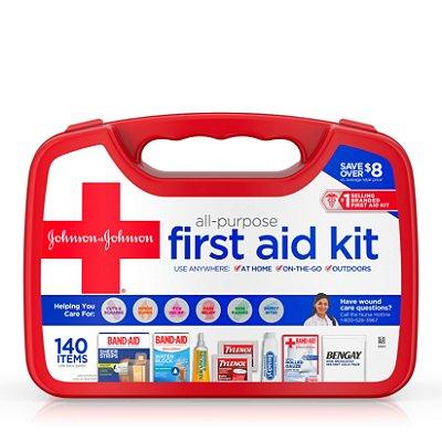 Johnson & Johnson All-Purpose Portable First Aid Kit