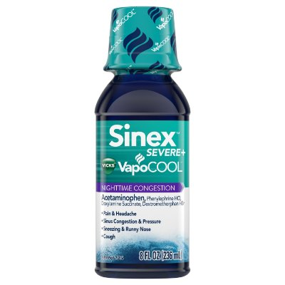 Sinex Severe VapoCOOL Nighttime Congestion, Sinus Pressure Relief, by Vicks
