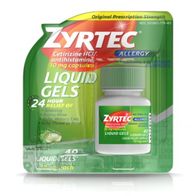 Zyrtec 24 Hour Allergy Relief Antihistamine Capsules