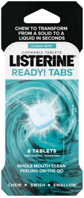 Listerine Ready! Tabs Chewable Tablets with Clean Mint Flavor
