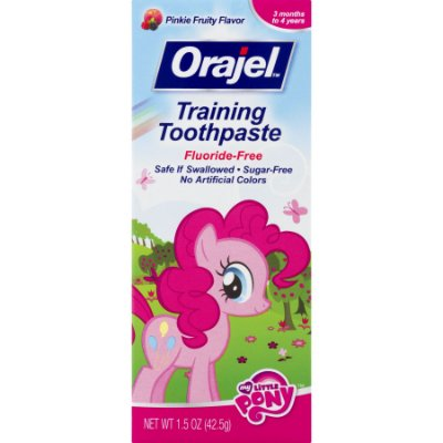 Orajel Training Toothpaste Fluoride-Free My Little Pony,