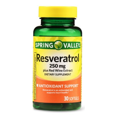 Spring Valley Resveratrol plus Red Wine Extract Softgels