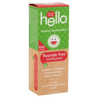 Hello Naturally Friendly Natural Watermelon Fluoride Free Kids Toothpaste