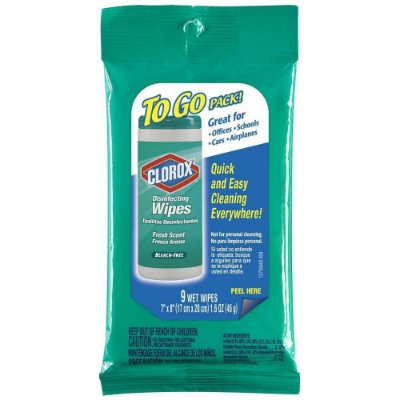 Clorox Wet Wipes To Go Multi Purpose Disinfecting Clean Fresh Scent