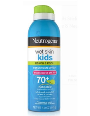Neutrogena Wet Skin Kids Sunblock Spray, Spf 70+