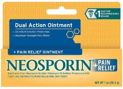 Neosporin + Pain Relief Dual Action Topical Antibiotic Ointment