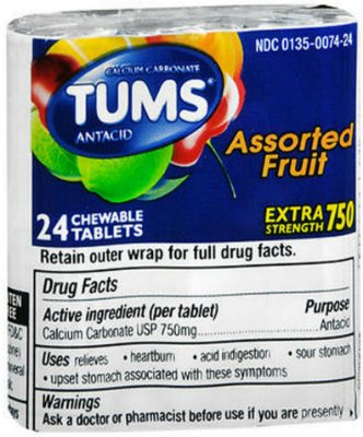 Tums Tablets Assorted Fruit