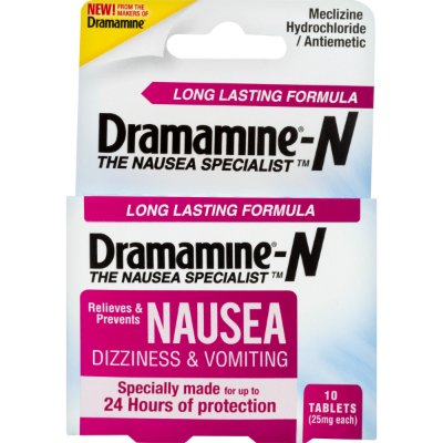 Dramamine Relieves & Prevents Nausea, Dizziness & Vomiting