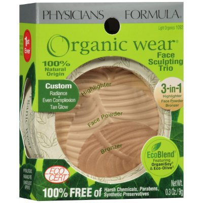 Physicians Formula Organic Wear Trio, Light