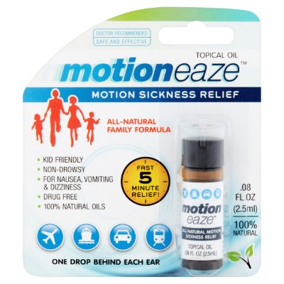 Motioneaze Motion Sickness Relief Topical Oil