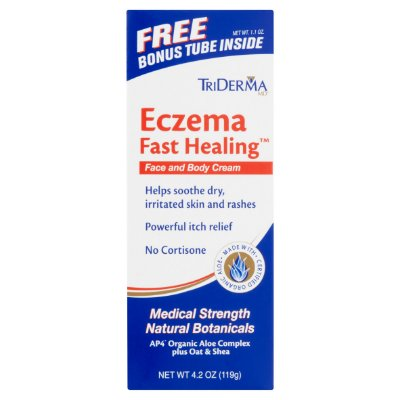 TriDerma MD Eczema Fast Healing Face and Body Lotion with Bonus Tube