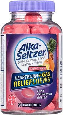 Alka-Seltzer Heartburn Plus Gas Relief Chews, Tropical Punch