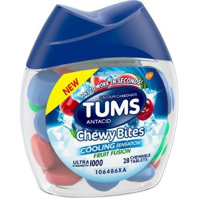 Tums Chewy Bites with Fast Cooling Sensation Antacid Tablets