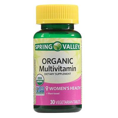 Spring Valley Organic Multivitamin Vegetarian Tablets