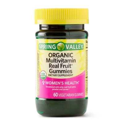 Spring Valley Organic Multivitamin Real Fruit Gummies