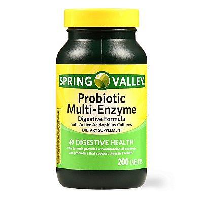 Spring Valley Probiotic Multi-Enzyme Digestive Formula Tablets