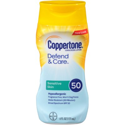 Coppertone Defend & Care Sensitive Skin Sunscreen SPF 50 Lotion