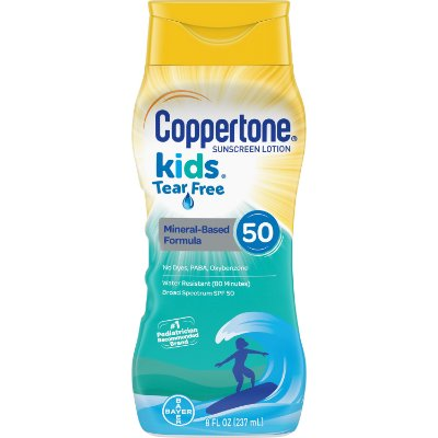 Coppertone Kids Sunscreen SPF 50 Tear Free Lotion