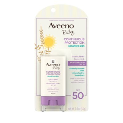 Aveeno Baby Sensitive Skin Sunscreen Stick, SPF 50
