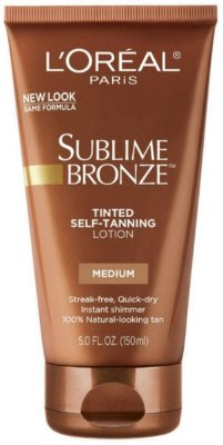 L'Oreal Sublime Bronze Tinted Self-Tanning Lotion Medium Natural Tan