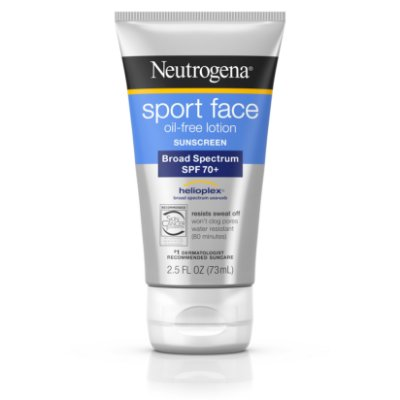 Neutrogena Sport Face Oil-Free Lotion Sunscreen, SPF 70+