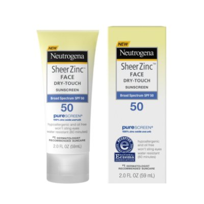 Neutrogena Sheer Zinc Dry-Touch Face Sunscreen with SPF 50