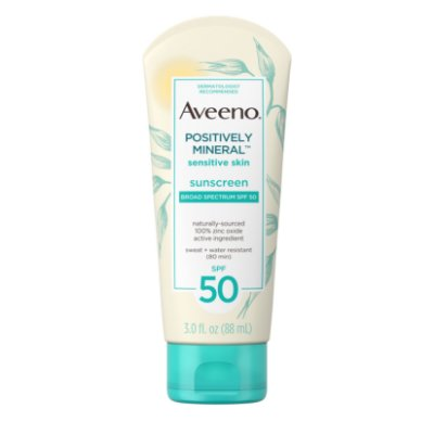 Aveeno Positively Mineral Sensitive Sunscreen Lotion SPF 50