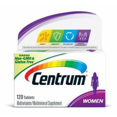 Centrum Women Multivitamin / Multimineral Supplement Tablet, Vitamin D3