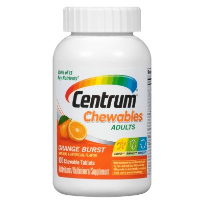 Centrum Adult Multivitamin / Multimineral Supplement Chewable Tablet, Vitamin D3
