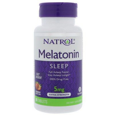 Natrol Melatonin 5mg Fast Dissolve Tablets, Strawberry flavor