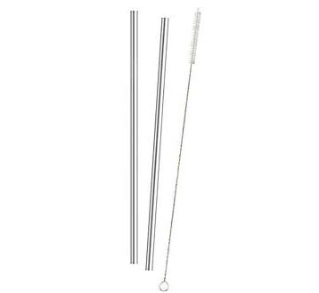 HIC Stainless Steel Tumbler Drinking Straws and Cleaning Brush Set