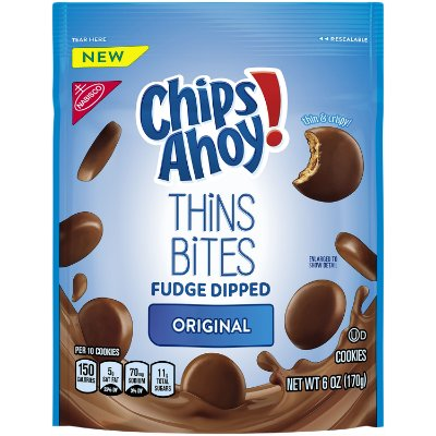 Chips Ahoy! Thins Bites Fudge Dipped Original Cookies