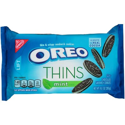 Nabisco Oreo Mint Creme Thins Sandwich Cookies