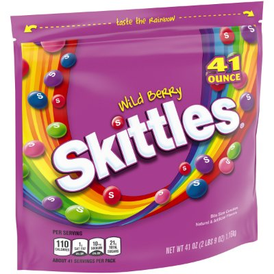 Skittles Wild Berry Fruity Candy Party Size Bag