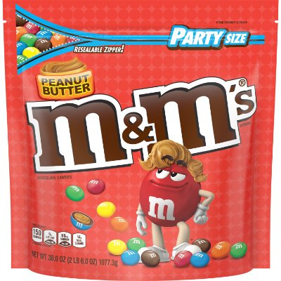 M&M'S Peanut Butter Chocolate Candy Party Size