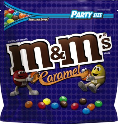 M&M'S Caramel Chocolate Candy Party Size