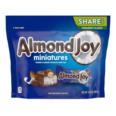 Almond Joy Coconut Almond and Milk Chocolate Miniatures Candy
