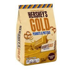 Hershey's Gold Pretzel and Peanuts Candy