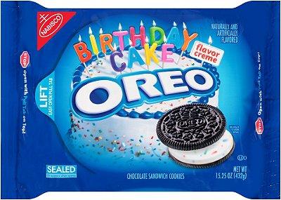 Oreo Birthday Cake Chocolate Sandwich Cookies