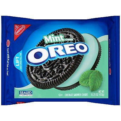 Nabisco Oreo Mint Crème Chocolate Sandwich Cookies