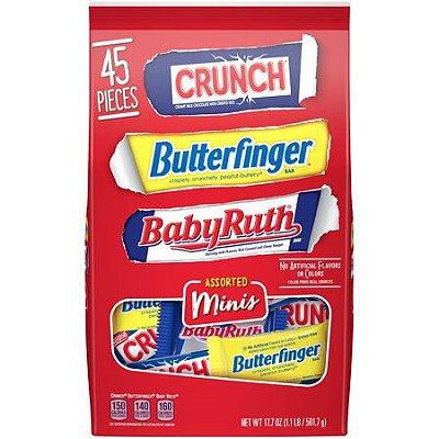 Crunch Butterfinger & Baby Ruth Assorted Minis Candy Bar
