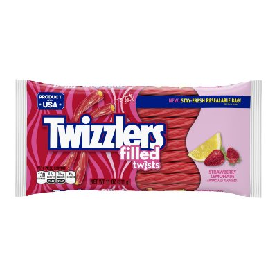 Twizzlers Strawberry Lemonade Filled Twists Licorice Chewy Candy