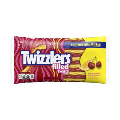 Twizzlers Filled Sweet & Sour Cherry Kick Citrus Punch Twists