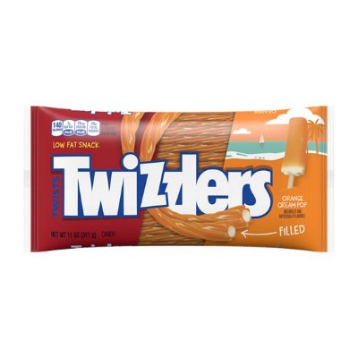 Twizzlers Filled Orange Cream Pop Twists Chewy Candy