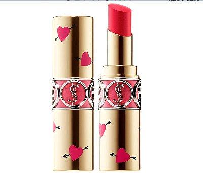 Yves Saint Laurent Heart & Arrow Collector Rouge Volupté Shine Lipstick - Edição Limitada