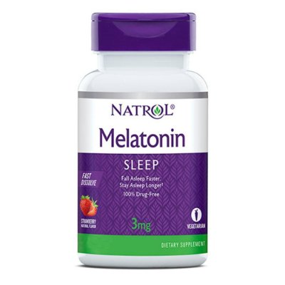 Natrol Melatonin 3mg Fast Dissolve Tablets, Strawberry flavor