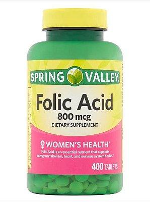 Spring Valley Folic Acid 800mcg