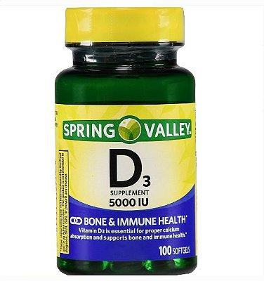 Spring Valley Vitamin D3 Softgels 125 mcg (5000 IU)