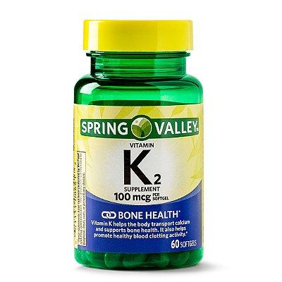 Spring Valley Vitamin K2 Supplement, 100 mcg